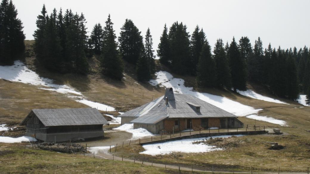 Le chalet du Couchant, sur les hauteurs de la commune d'Arzier-Le Muids.
