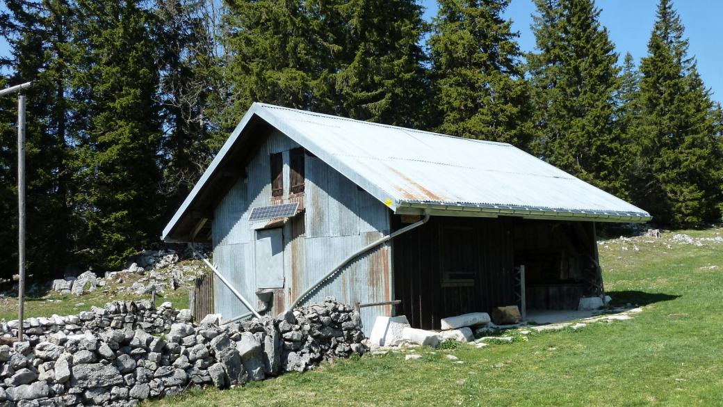 La cabane du Servan, sur la commune de l'Abbaye, Vaud.