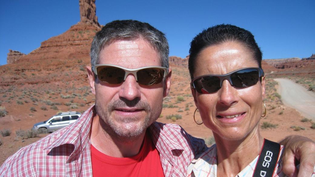 Stefano et Marie-Catherine à Valley of the Gods en 2011.