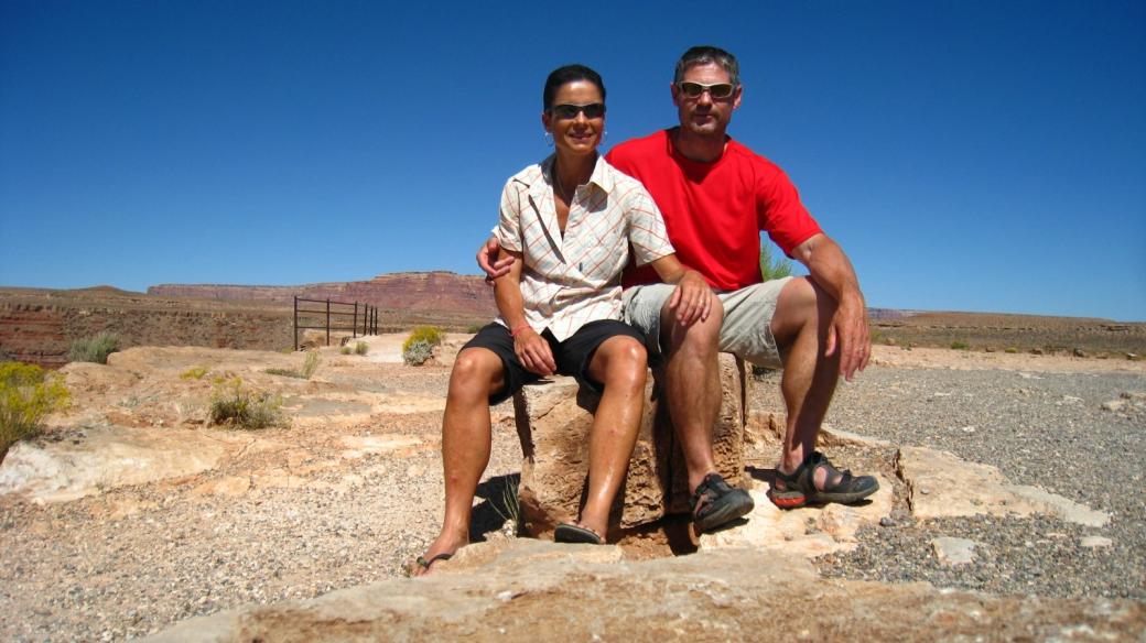 Stefano et Marie-Catherine à Gooseneck State Park en 2011.