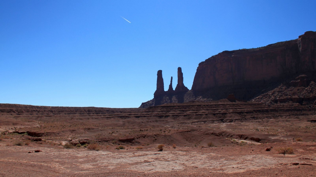 Les Three Sisters de Monument Valley.