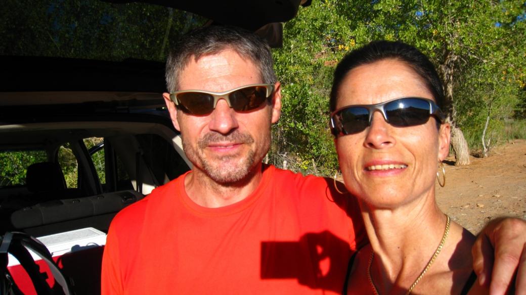 Stefano et Marie-Catherine - Arch Canyon - Cedar Mesa - Utah