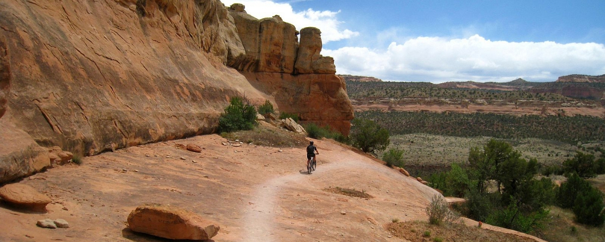 Biking on Kokopelli's Trail