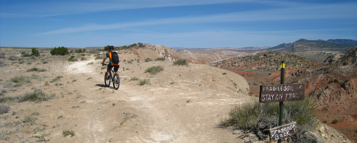 Dragon's Back on White Ridge Mountain Bike Trail System