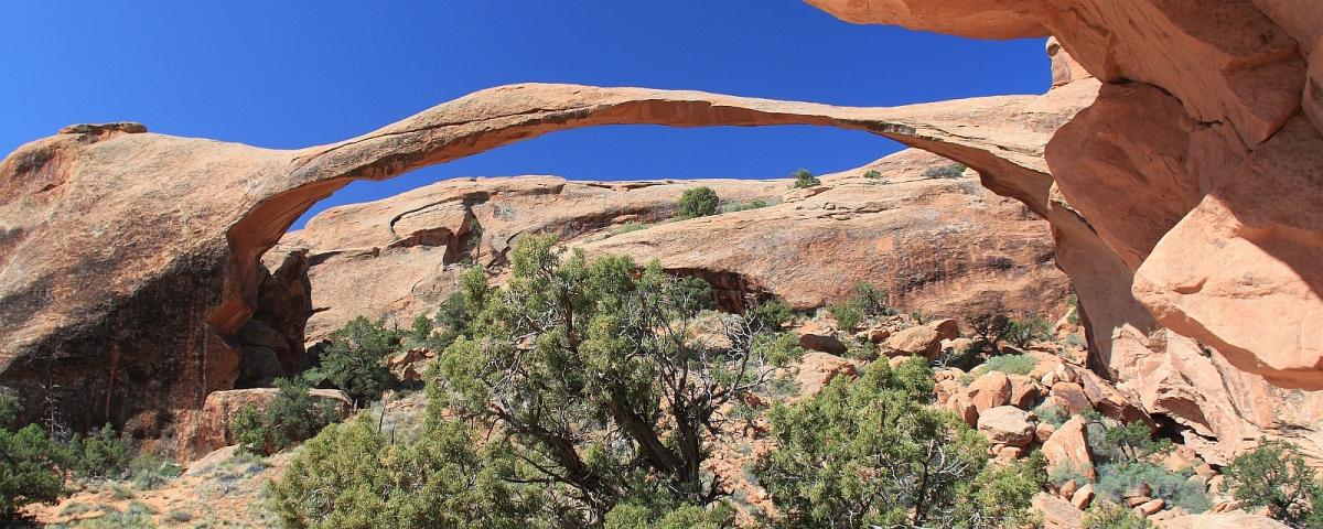 Landscape Arch, à Devil's Garden. À Arches National Park, Utah.