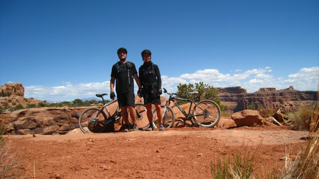 Stefano et Marie-Catherine - Shafer Trail - Moab