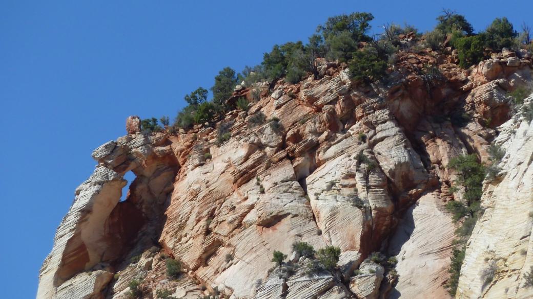 La Checkboard Mesa Arch, c'est ça, sans plus... À Zion National Park, dans l'Utah.