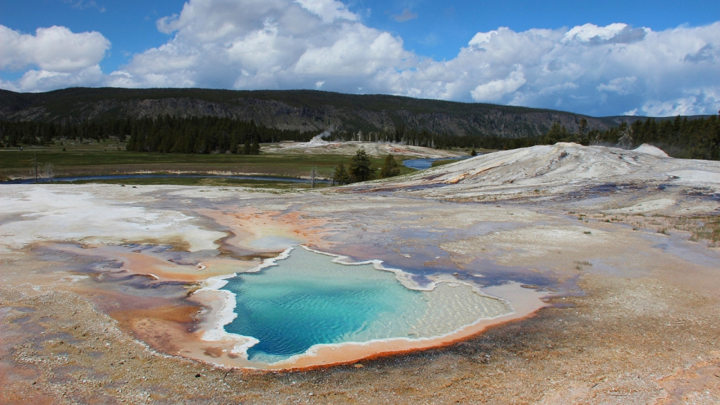 Heart Spring, dans le Upper Geyser Basin, pas loin du Old Faithful. À Yellowstone National Park.