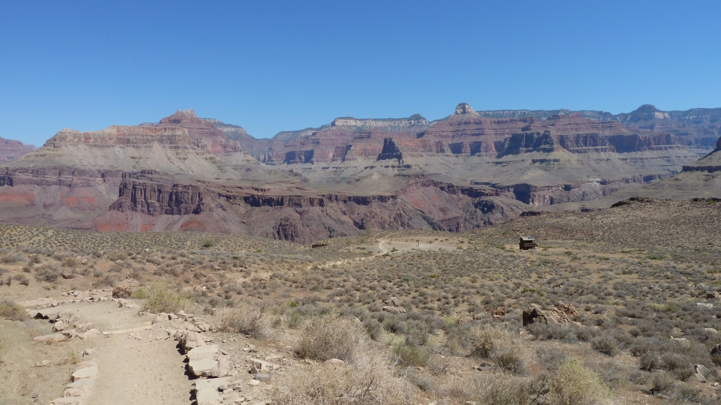 Vue sur le Tipoff, à environ 7 km du départ du South Kaibab Trail, au Grand Canyon.