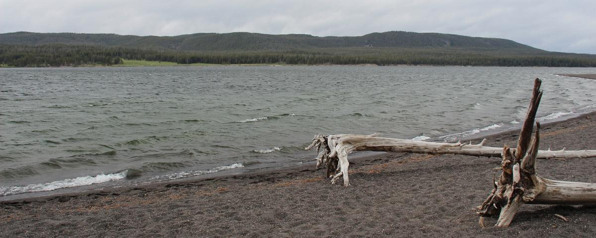 Vue sur le lac de Yellowstone, à Yellowstone National Park.