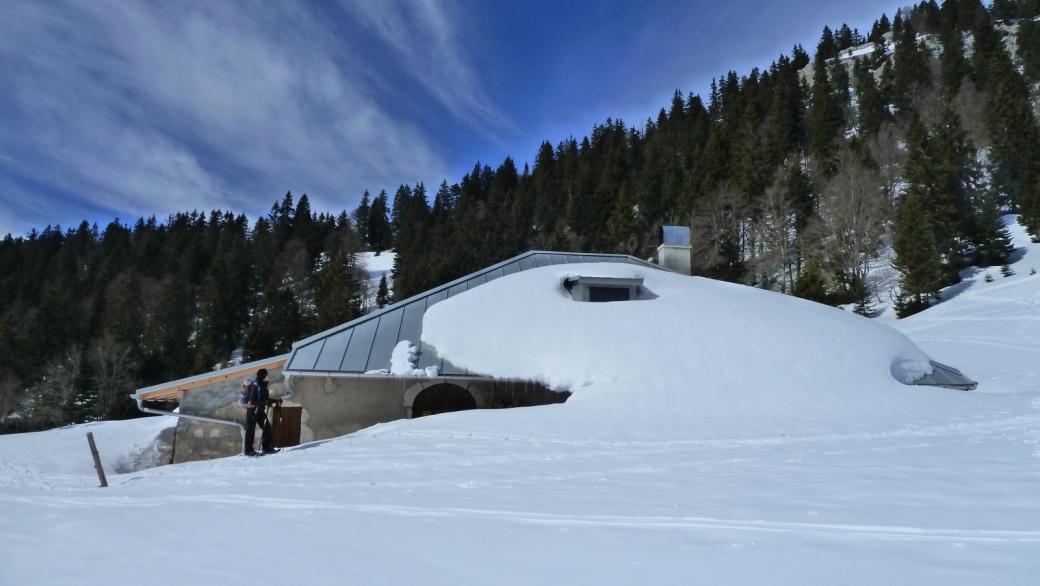 Chalet d'alpage de la Baudichonne, propriété de la commune de La Rippe.