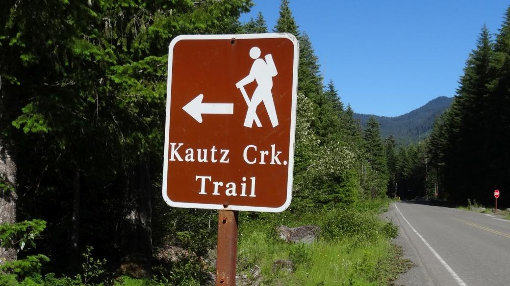 Panneau au départ du Kautz Creek Trail, au Mount Rainier National Park.