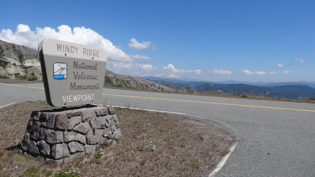 Arrivée à Windy Ridge Viewpoint, au Mount St. Helens National Volcanic Monument.