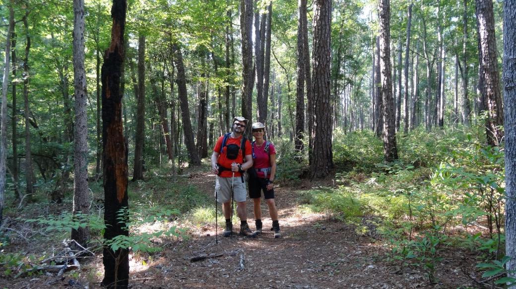 Stefano et Marie-Catherine sur le Lone Star Trail, au Texas.