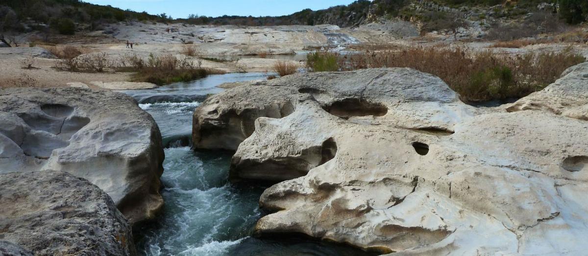 Les eaux de la Pedernales River, à Pedernales Falls State Park.