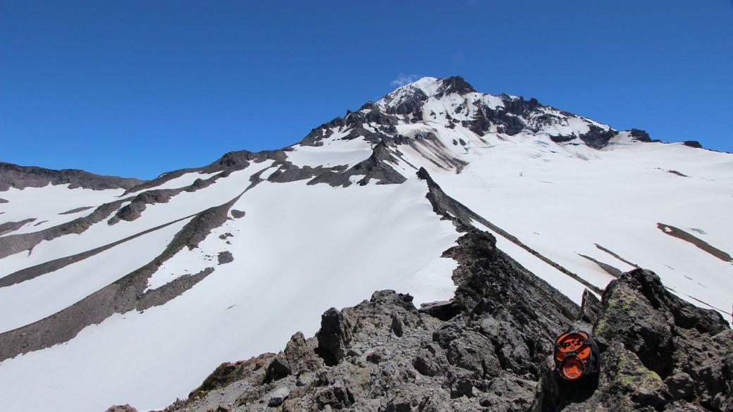 Vue sur le Glisan Glacier, depuis McNeil Point, au Mount Hood, Oregon.