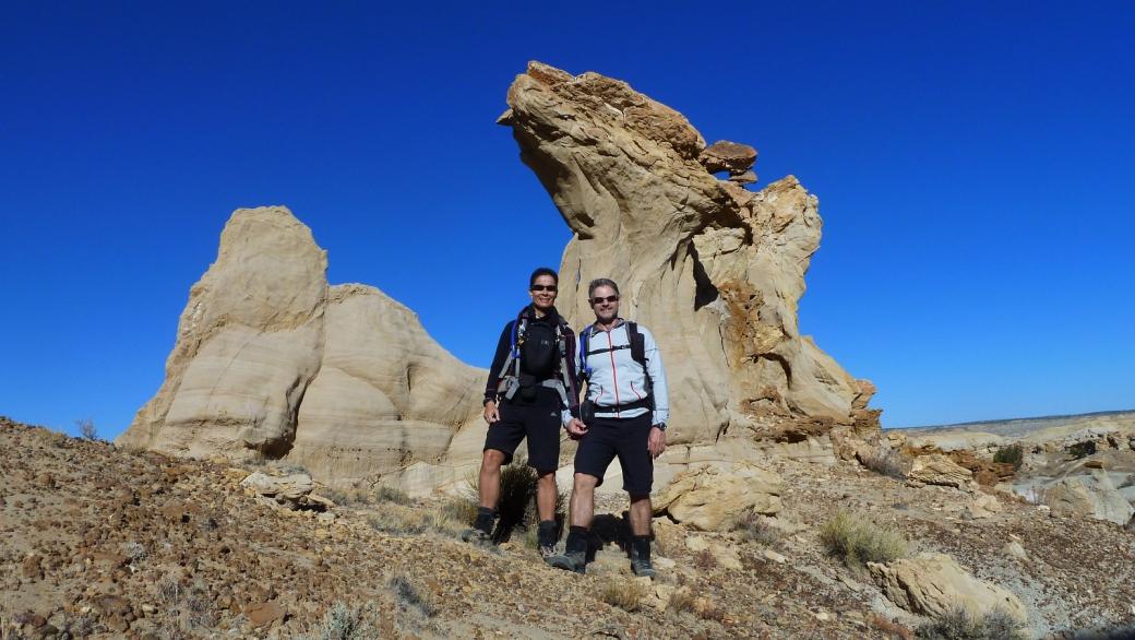 Stefano et Marie-Catherine à De-Na-Zin Wilderness, près de Bloomfield, au Nouveau-Mexique.