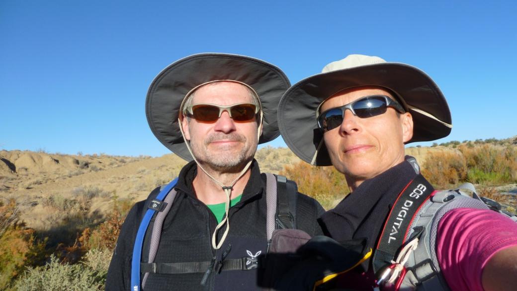 Stefano et Marie-Catherine à Ojito Wilderness, Nouveaux-Mexique.