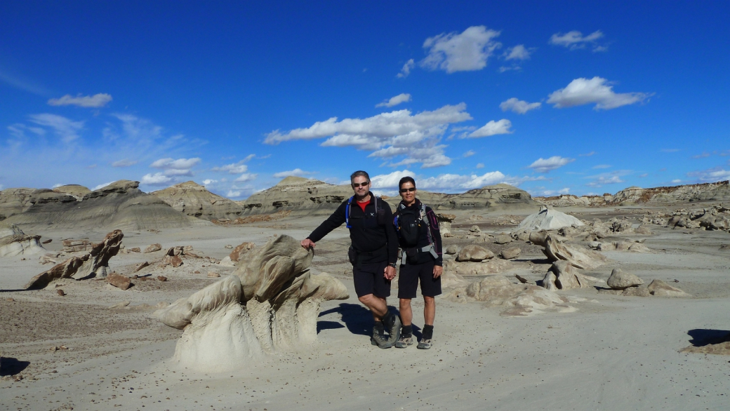 Stefano et Marie-Catherine à Bisti Wilderness Area.