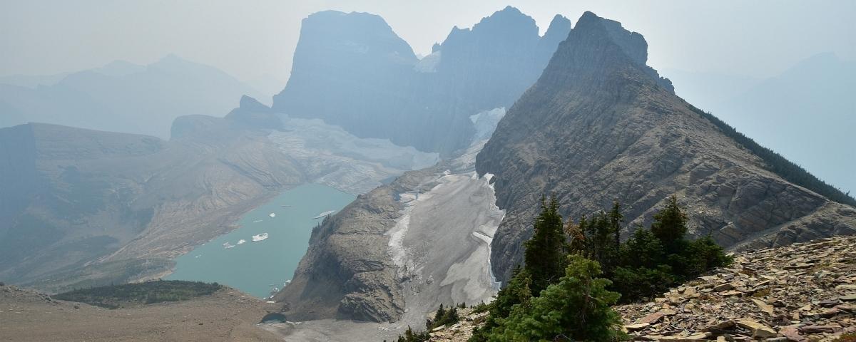 Vue depuis le Glacier Overlook, à Glacier National Park, dans le Montana.