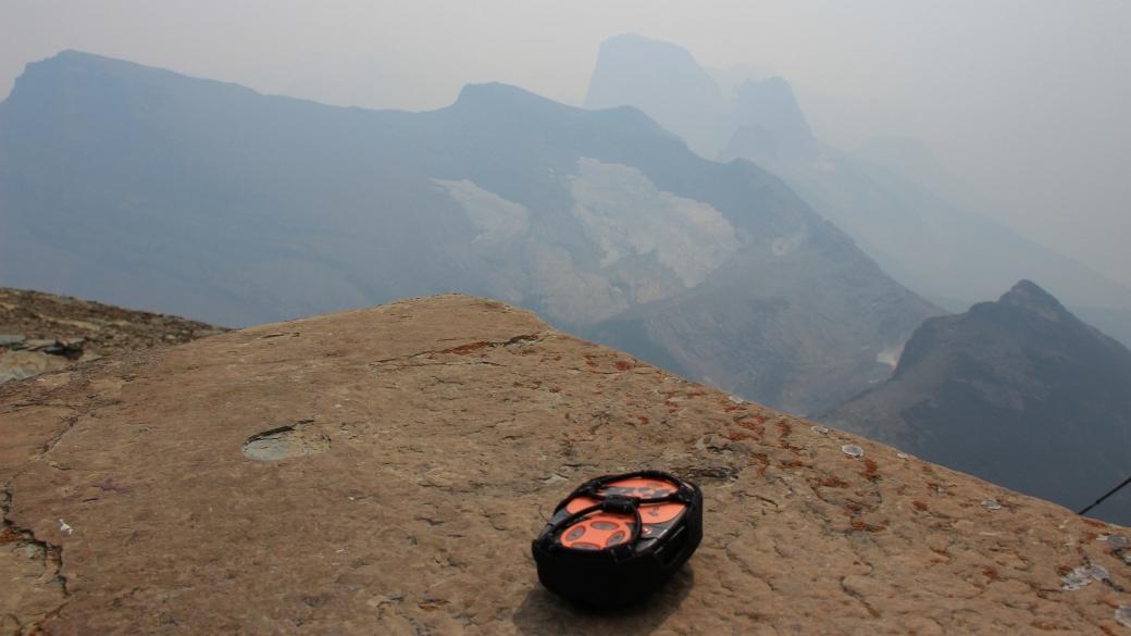 Message SPOT depuis le Swiftcurrent Lookout, un poste de guet à Glacier National Park, Montana.