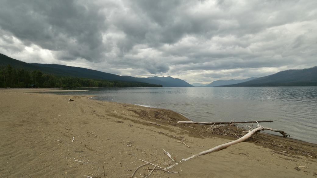 Vue sur Lake McDonald, à Glacier National Park, dans le Montana.