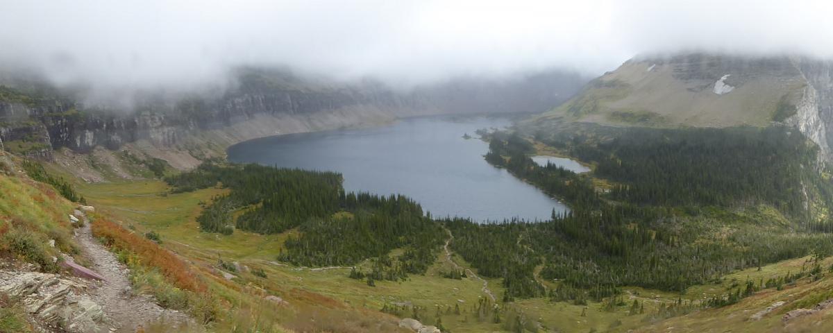 Hidden Lake, à Glacier National Park, dans le Montana.
