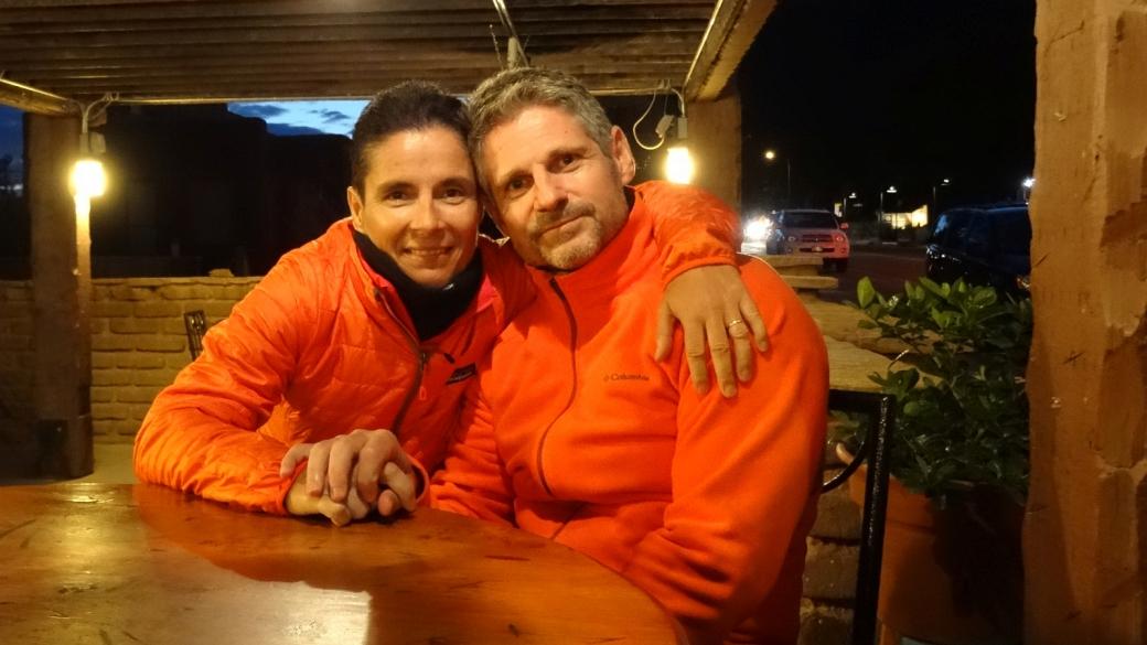 Stefano et Marie-Catherine à Casa de Amigos, à Springdale, Utah.