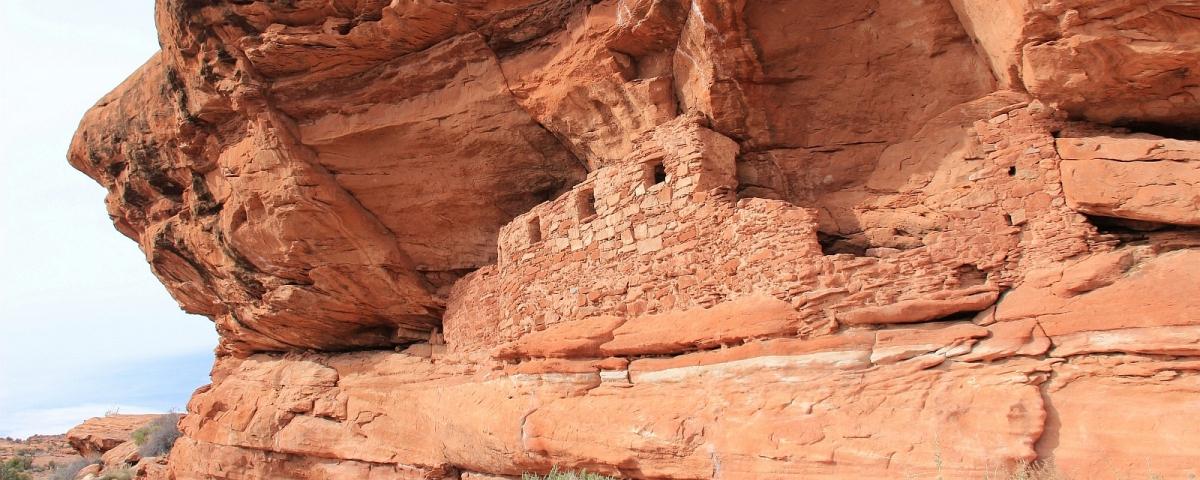 Ruines Anasazi à Lower Fish Creek, près de Blanding, Utah.