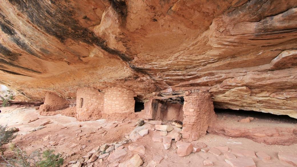 Bigfoot Ruins, dans les alentours de Natural Bridges National Monument, près de Blanding, Utah.