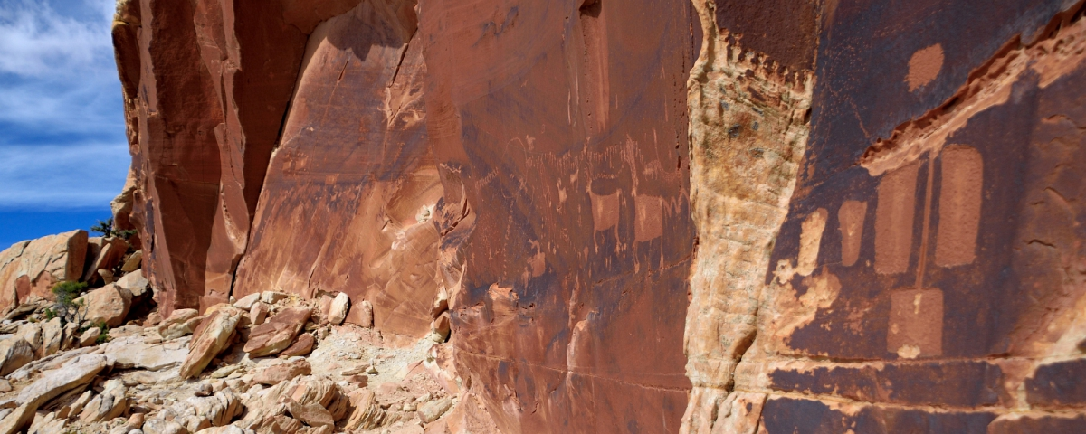Procession Panel, sur le Comb Ridge, dans l'Utah.