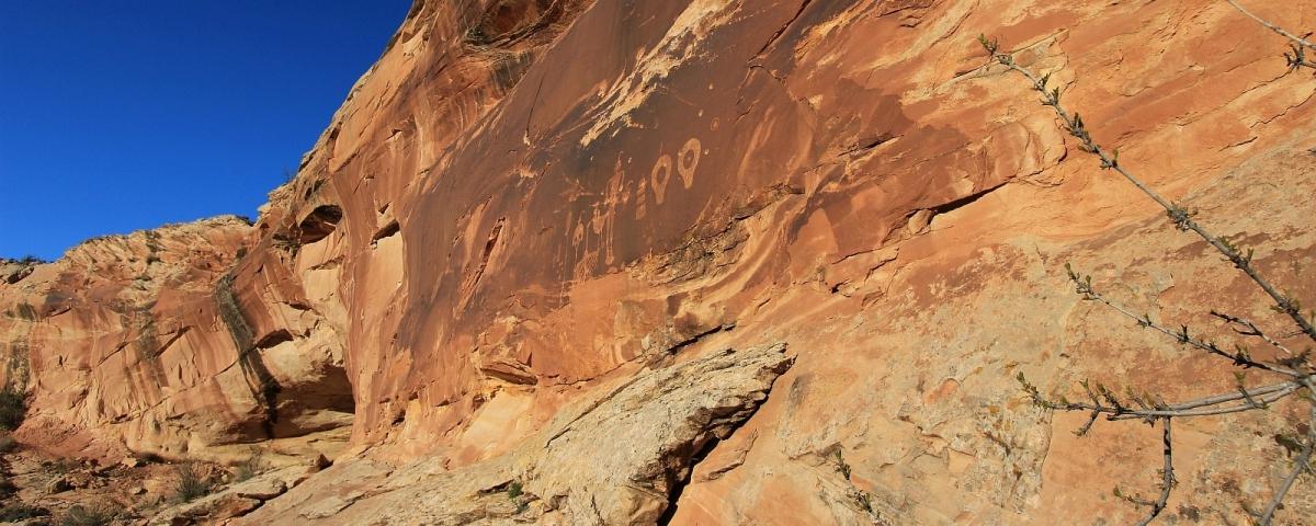 Wolman Panel, sur le Comb Ridge. Près de Blanding, Utah.