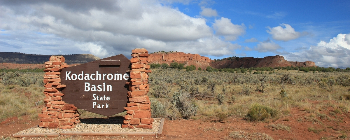 Kodachrome Basin State Park Entrance Sign