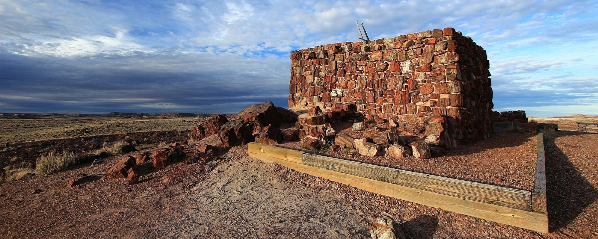 Agate House, un pueblo se trouvant à Petrified Forest National Park, Arizona.