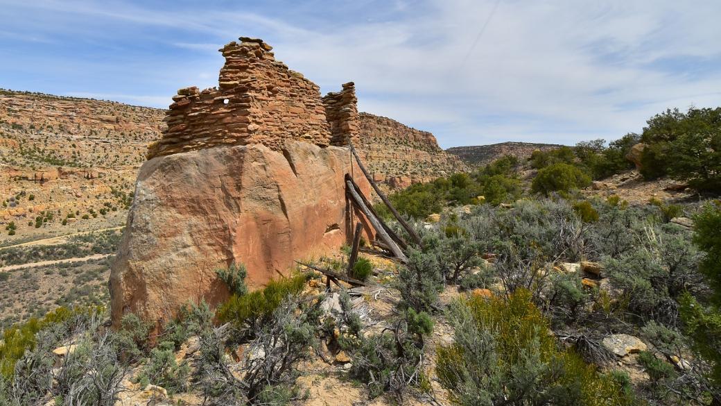 Jolie vue sur le Crow Canyon Pueblito, près de Farmington, au Nouveau-Mexique.