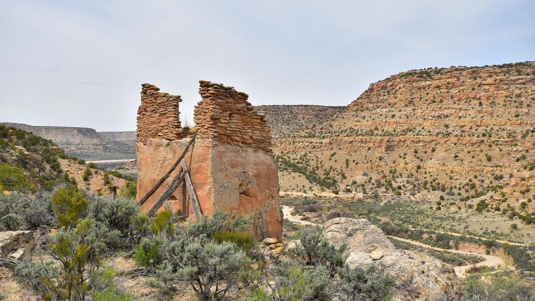 Vue sur le pueblito et Crow Canyon en contrebas.