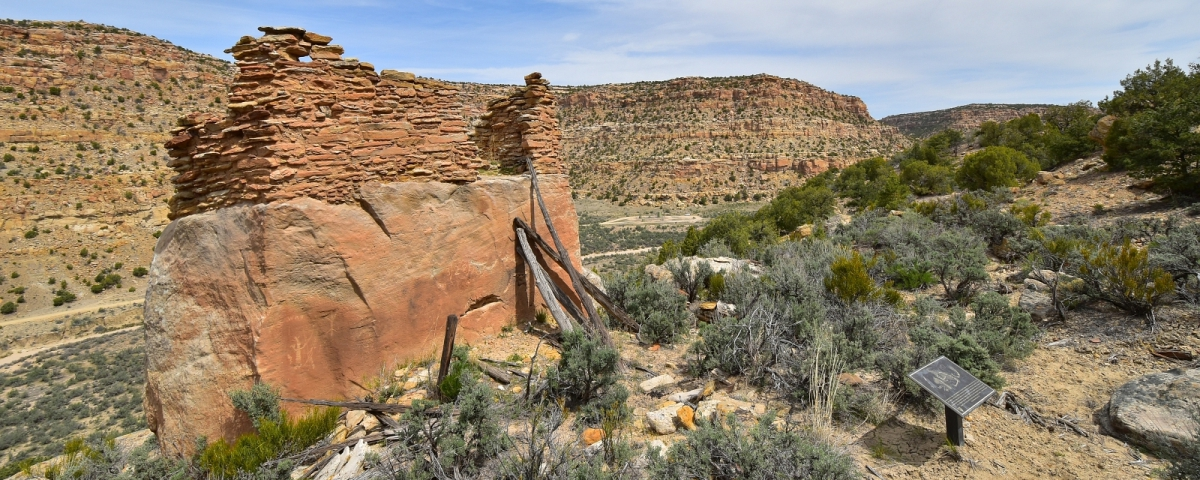 Pueblito et ruines à Crow Canyon, près de Farmington, au Nouveau-Mexique.