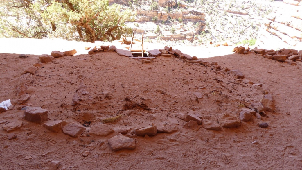 Le Perfect Kiva, dans le First Fork of Slickhorn Canyon. Cedar Mesa, près de Blanding, Utah.