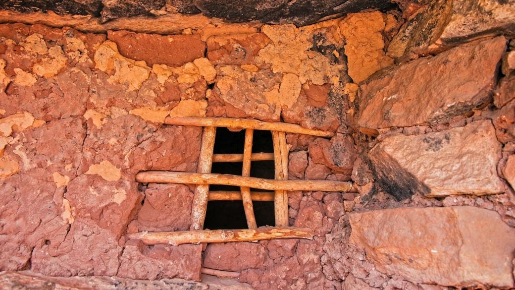 La fenêtre de la prison ? The Jailhouse Ruins, à Bullet Canyon, dans l'Utah.