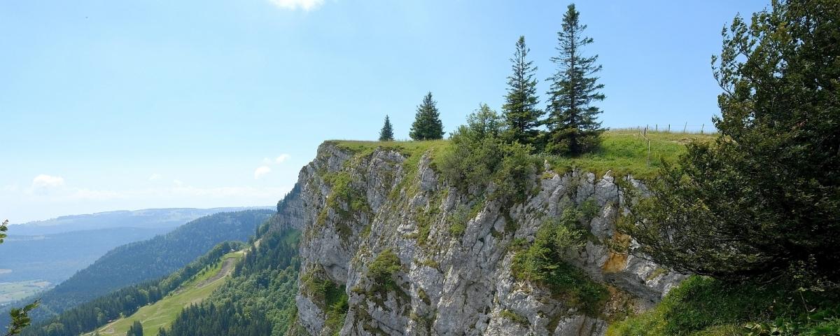 Vue sur le Mont d'Or, dans le canton de Vaud.