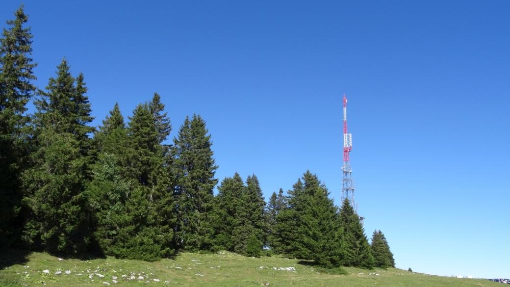 La nouvelle antenne deSwisscom de La Barillette. L'ancienne a été dynamitée le 24 mai 2018.