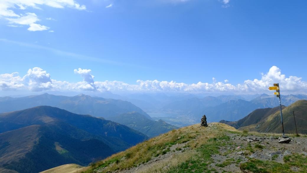 Sommet du Gazzirola, à 2'116 mètres, au Tessin.