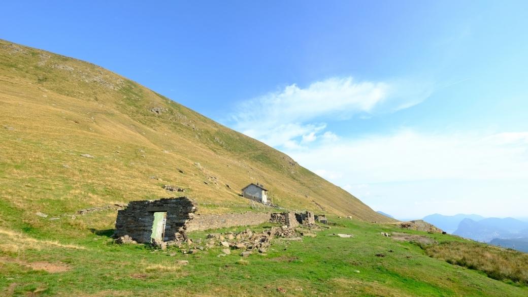 Alpe Davrosio, près de Caval Drossa, au Tessin.