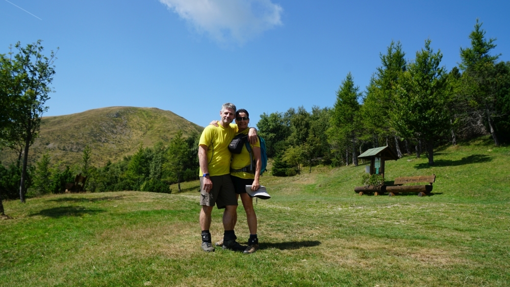 Stefano et Marie-Catherine au refuge forestier de Piandanazzo, au Tessin.