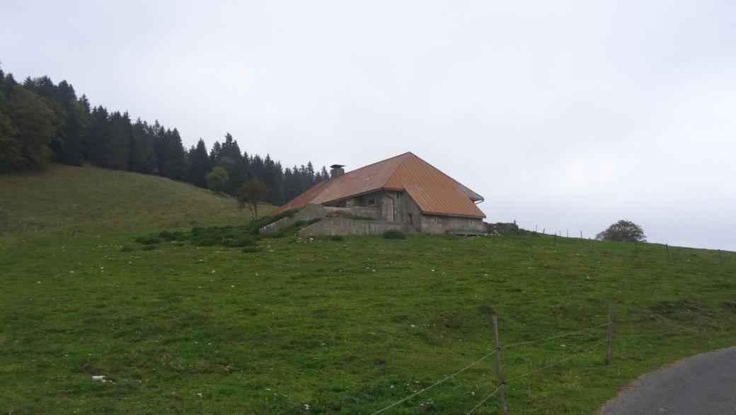 Le chalet des Biolles, sur la commune d'Arzier-Le Muids, en Suisse.