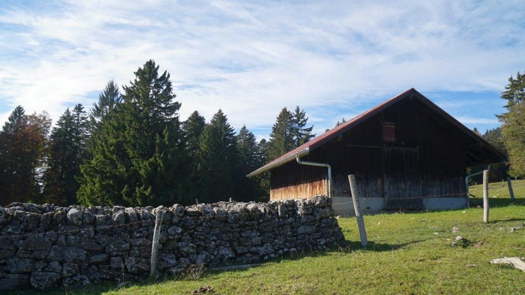 Chalet d'alpage ou abri, de la Reguéla, sur les hauteurs de Longirod, Vaud.