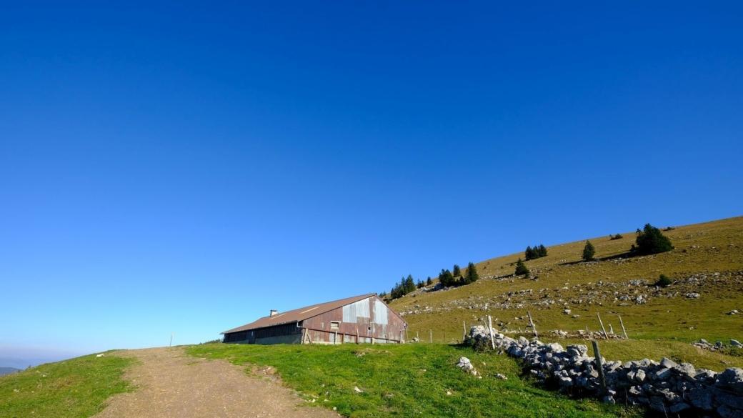 Le Chalet de Yens, au pieds du Mont Tendre, sur la commune de Montricher, Vaud.