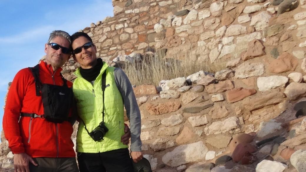 Stefano et Marie-Catherine à Tuzigoot National Monument, près de Sedona, dans l'Arizona.