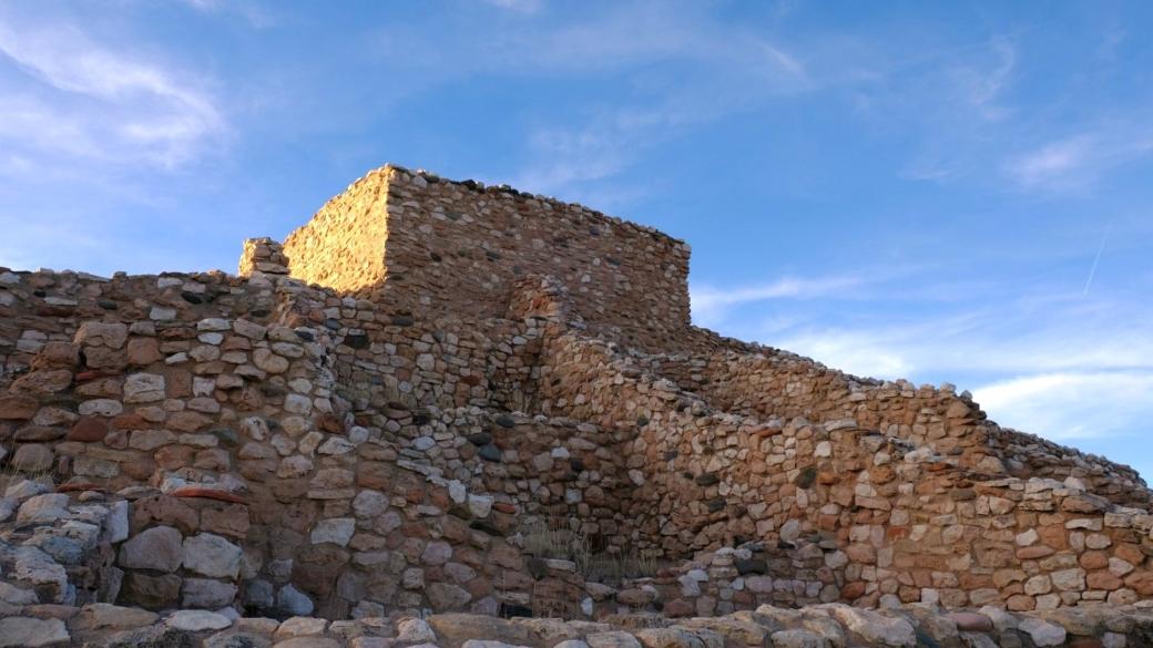 Vue sur le peublo de Tuzigoot National Monument, près de Sedona, dans l'Arizona.