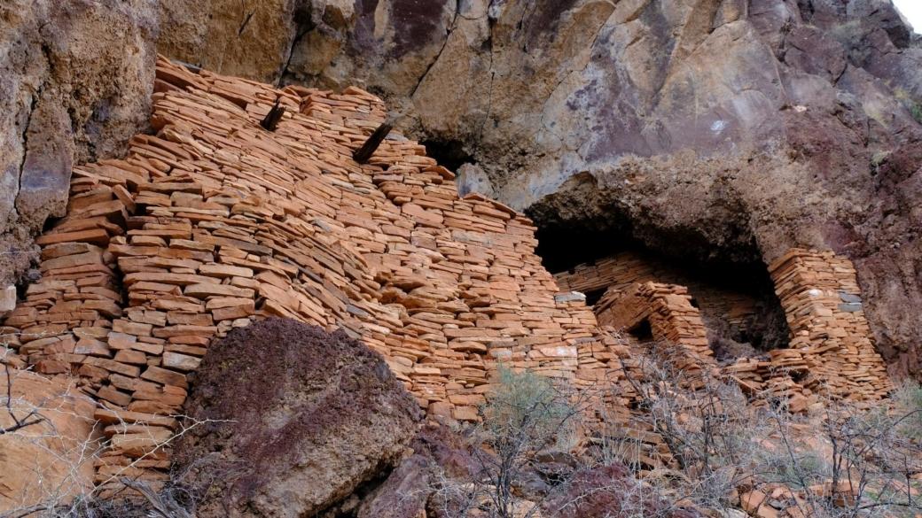 Vue rapprochée sur les ruines de Sycamore Canyon, près de Sedona, dans l'Arizona.